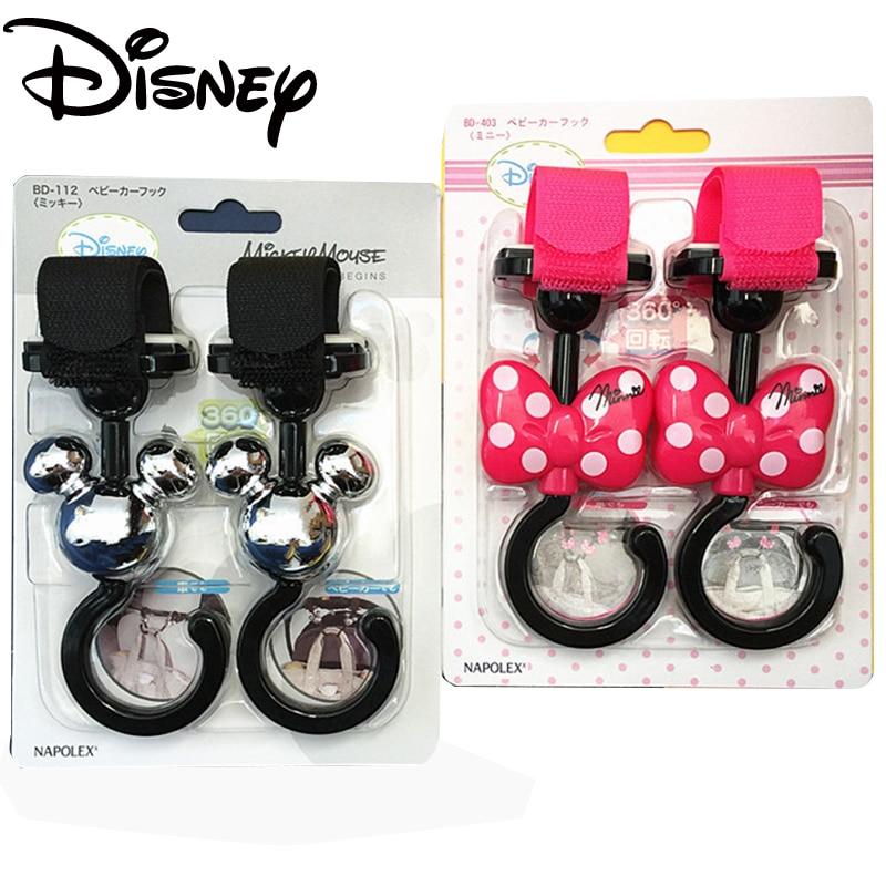 Disney 2 pcs/lot Universel Landau Poussette Poussette Crochet Shopping Sac Clip Multi-usages Crochets Fauteuil Roulant Poussette Accessoires