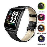 ECG + PPG de Fitness Rastreador Smartwatch Assista Heart Rate Monitor de Pressão Arterial Relógio À Prova D' Água Esporte Relógio Inteligente para IOS Android