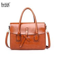 BRIGGS Vintage Women Soft PU Leather Handbag Female Shoulder Bags Ladies Messenger Bag Designer Business Women Bag bolsos недорого
