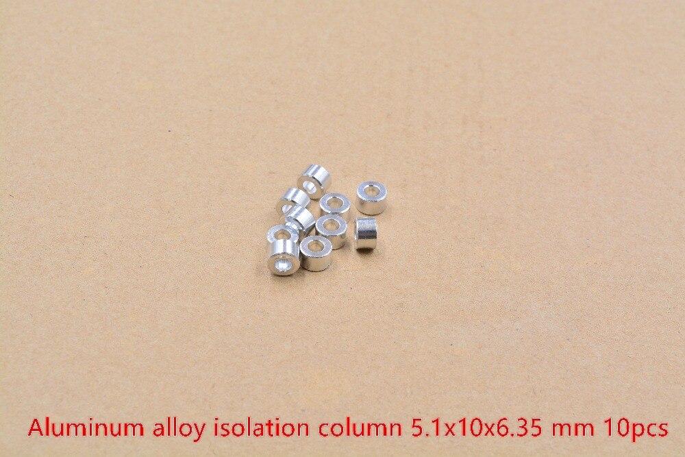 3D принтеры запчасти openbuilds изоляции колонки диаметр 5,1 мм Диаметр 10 Длина 6,35 1/4 алюминий сплав плоская прокладка Ловушка 1 мешок