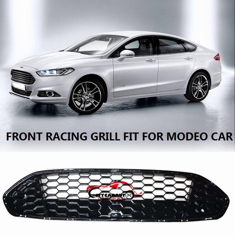 CITYCARAUTO AUTO MASK COVER FRONT RACING GRILLE GRILLS RAPTOR FRONT GRILL COVER FIT FOR MONDEO FUSION 2013-2016 CAR racing grills version aluminum alloy car styling refit grille air intake grid radiator grill for kla k5 2012 14