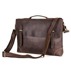 Nesitu высокое качество коричневый Crazy Horse кожа 14 ''ноутбук Для мужчин Портфели портфель из натуральной кожи мужской Курьерские сумки M7228
