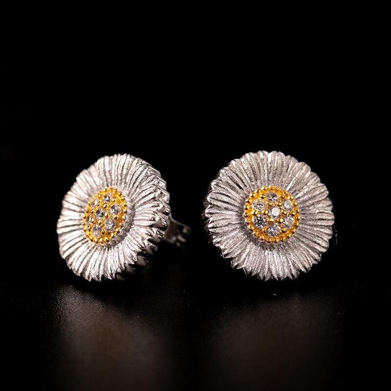 925 argent Zircon oreille bijoux femmes style cour européenne style vintage
