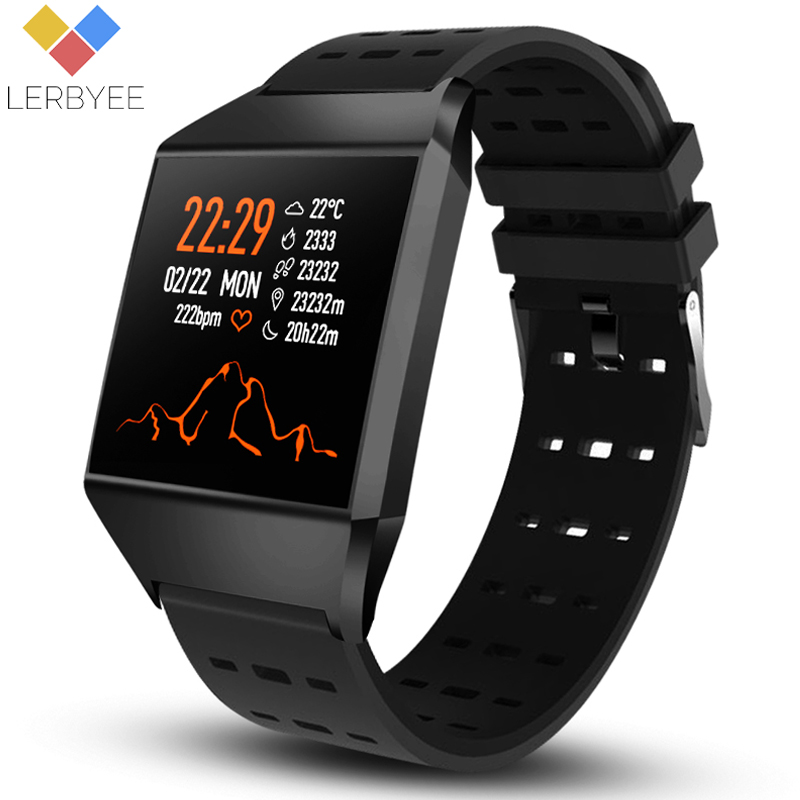 Lerbyee Smart Wristband W1C Blood Pressure Waterproof Fitness Tracker Watch Sleep Monitor Call Reminder Smart Bracelet for Sport