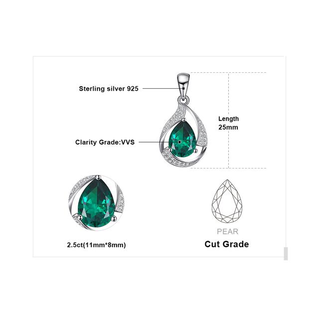 Nano Emerald Silver Pendant