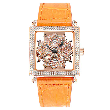 MATISSE Lady Austria Crystal Rotatable Dial Leather Strap Business Fashion Quarzt Wrist Watch matisse dance with joy
