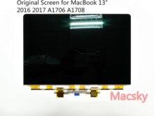 Натуральная 13 «ноутбук Матрица для Macbook Pro 13» 2016 2017 с Touch Bar A1706 A1708 Замена ЖК-дисплей светодиодный экран Дисплей