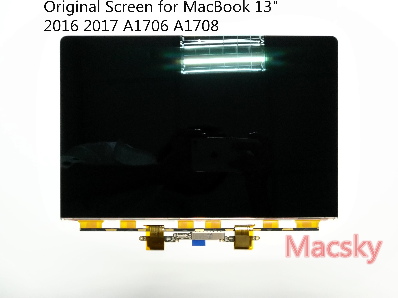 Véritable 13 Matrice Portable pour Macbook Pro 13 2016 2017 Avec Tactile Bar A1706 A1708 Remplacement LCD LED écran D'affichage