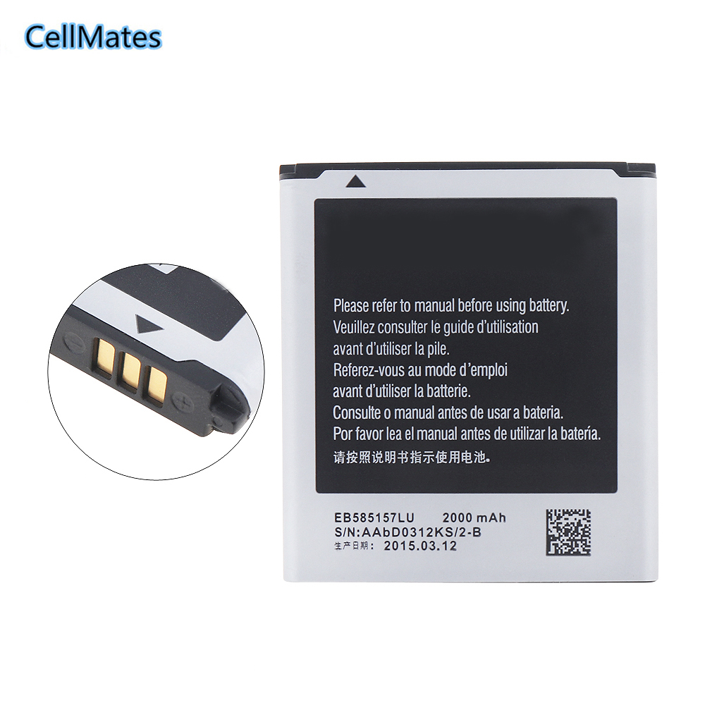100% Original EB585157LU for Samsung Galaxy core 2 duos i8552 i869 i8558 i8550 battery 2000mAh
