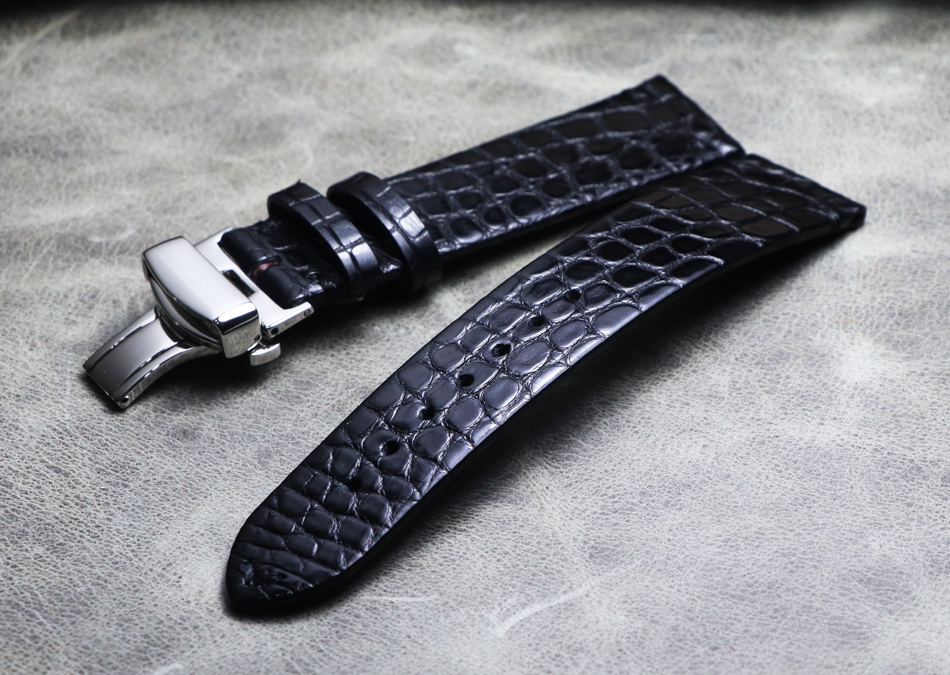 NEW Genuine Crocodile Leather Watchband 16mm 18mm 19mm 20mm 21mm 22mm Watches Strap Coffee Black Butterfly