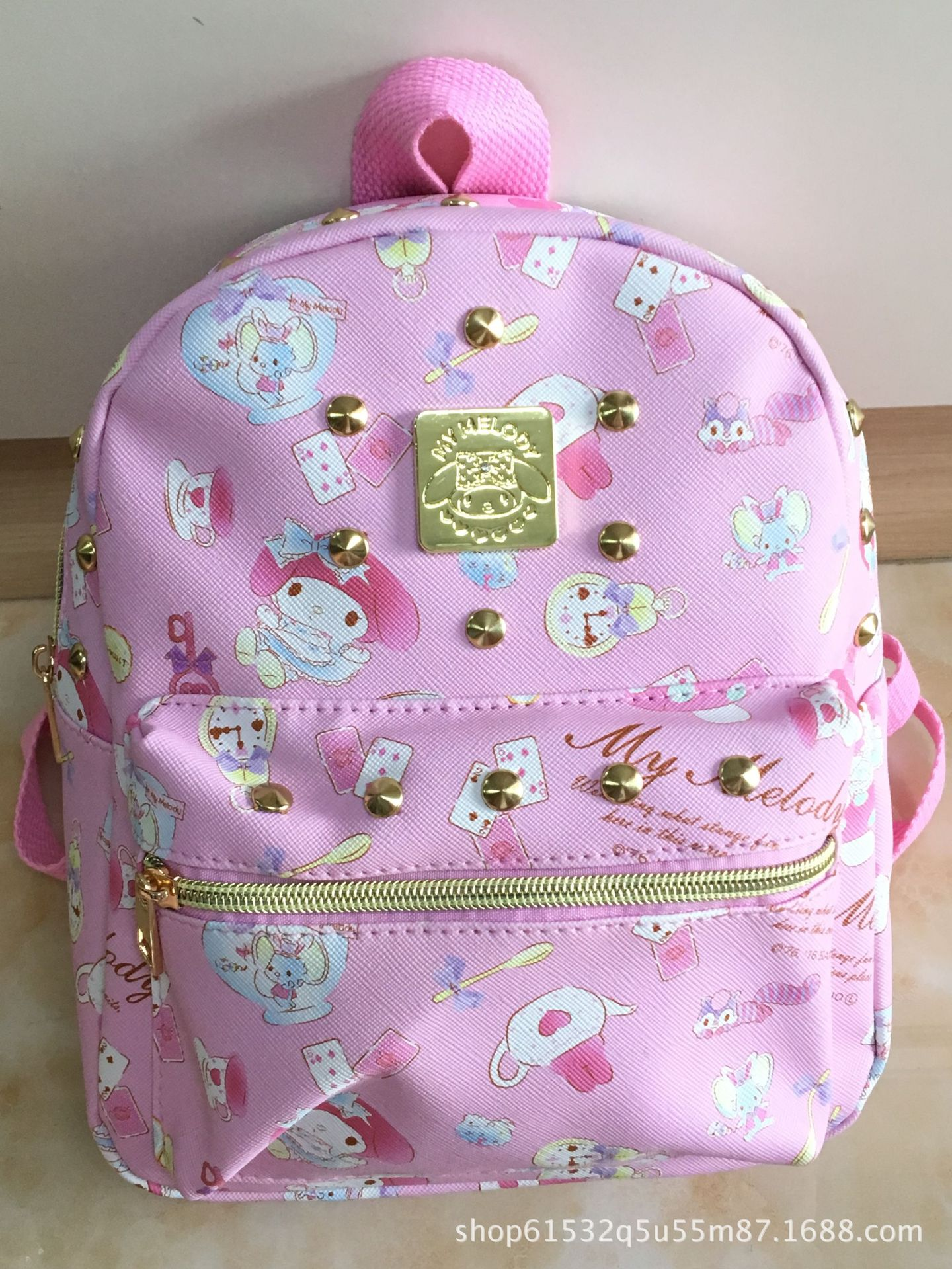 plush animal cartoon duffy friend stellaLou rabbit bunny backpack schoolbag bag