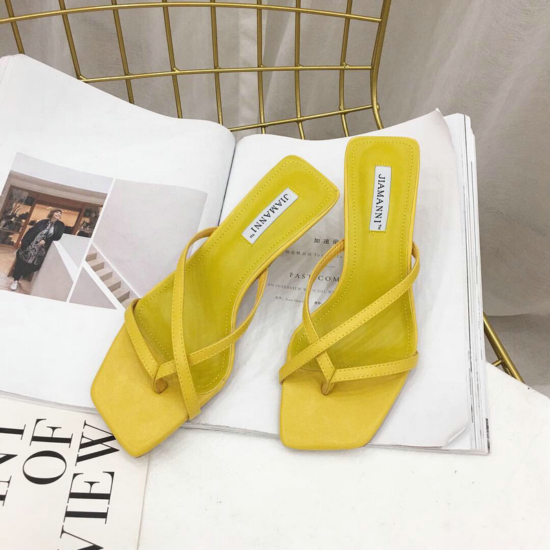 K1185 2019 New Roman Slippers Fashion Simple Temperament Wearing High heeled Slippers for Women