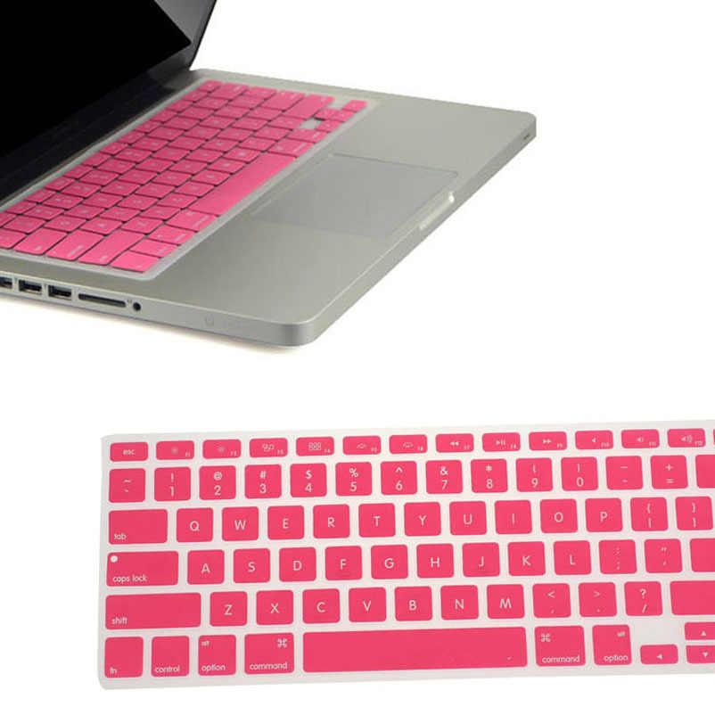 9 Warna Keyboard Kulit Cover untuk MacBook Pro Air Mac Retina 13.3 Lembut Keyboard Stiker Film Label untuk Keyboard