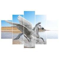 5 шт./лот Новое поступление крыло Лошадь Животные 5D DIY алмаз живопись полный квадратный мозаика вставить Вышивка крест рукоделие as837