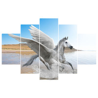 5 Pcs Lots NEW Arrival Wing Horse Animals 5D Diy Diamond Painting Full Square Mosaic Pasted