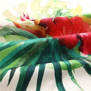 Image 5 - 1Pcs Golden Flowers Leaf Kitchen Apron Woman Sleeveless Cotton Linen Apron Home Cooking Baking Bibs Cleaning Tool 53*65cm WQ0127