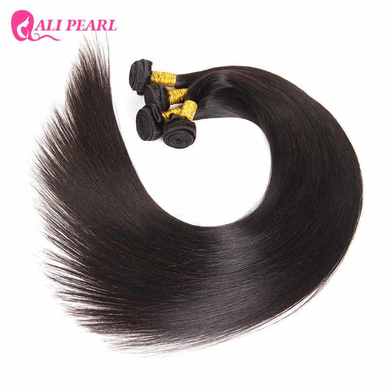 Ali perla pelo largo 30 32 34 36 38 40 pulgadas pelo lacio 1 pieza solo Natural negro Remy pelo