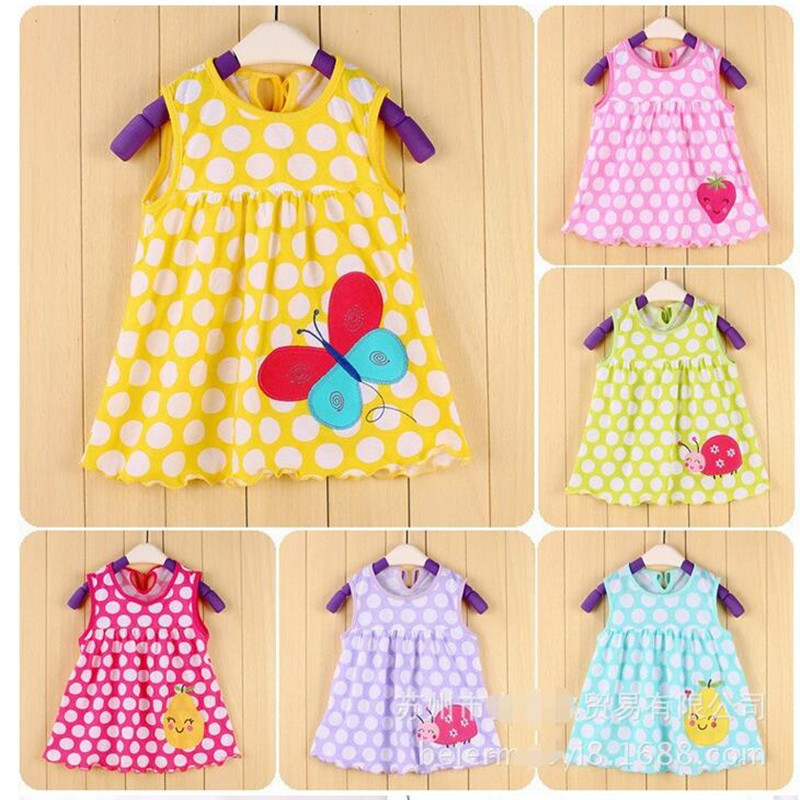 a5c7649c8df4 Ladybug Bebe Dresses 0 1 2 year Baby Girls Dress Infant Blouses ...