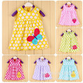 HOT 2016 Retail Baby Girls Dress Infant 100% Cotton Clothing Sleeveless Printed Dress Summer Clothes DR8569