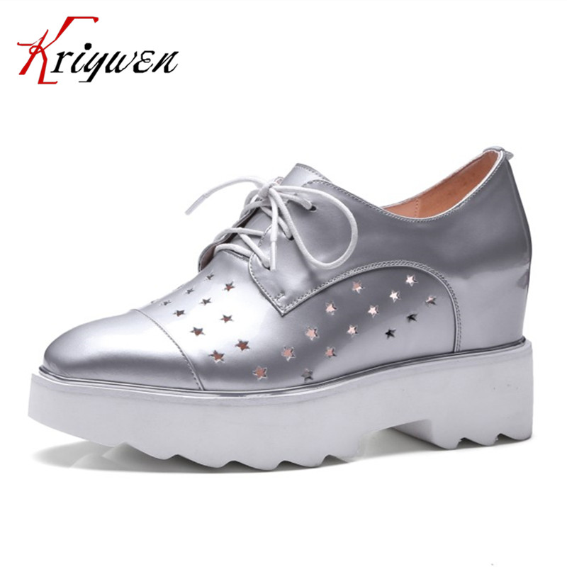 ФОТО 2017 Spring new fashion super high heels women pumps cow leather platform lace up shoes cross tied party dress shoes size 33-42