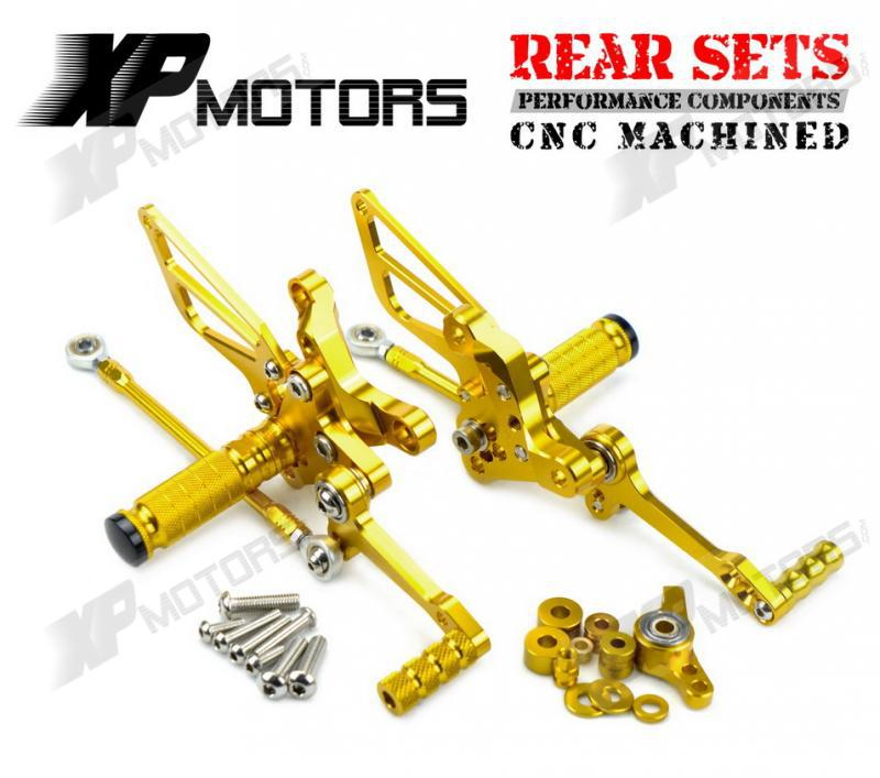 Gold Racing CNC Billet Rear Sets Foot Pedals Pegs For Ducati 848/1098/1198 R