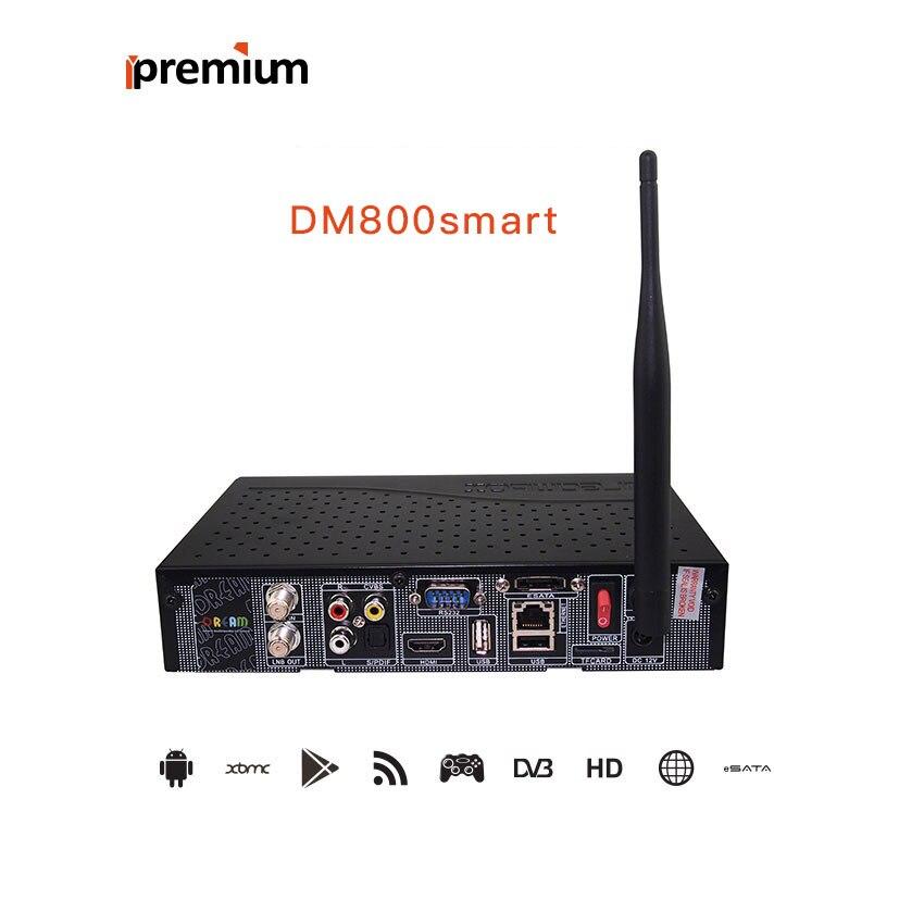 2019 boîte de rêve Android boîte Satellite Android TV boîte DVB-S2 DM800 SmartT HD CCcam récepteur