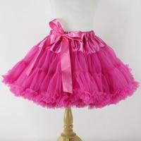 Fluffy Fuschia Chiffon Pettiskirt With Ruffles Full Infant Children S Tutu Petticoat For Baby Girls 2