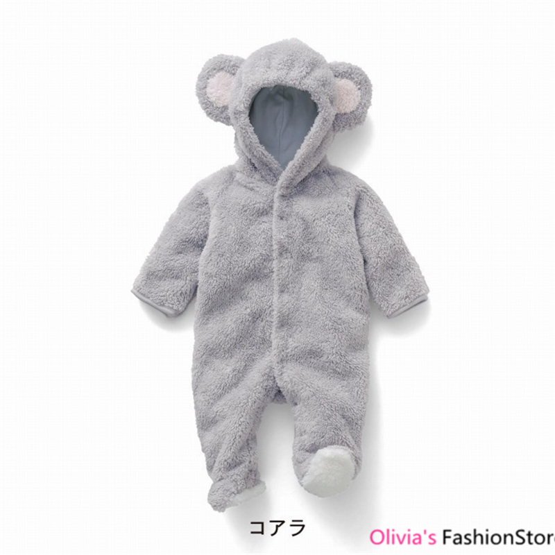 Winter Newborn Baby Boy Clothes Flannel Girls Clothing Cute Infant Jumpsuit