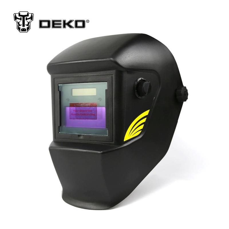 все цены на DEKOPRO Basal Black Solar Auto Darkening  MIG MMA Electric Welding Mask/Helmet/Welding Lens for Welding Machine or Plasma Cutter онлайн