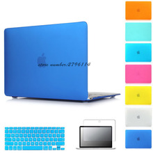 Hard Matte Case For Apple macbook Air Pro Retina 11 12 13 15 laptop bag For Mac book 11.6 13.3 15.4 inch laptop case cover