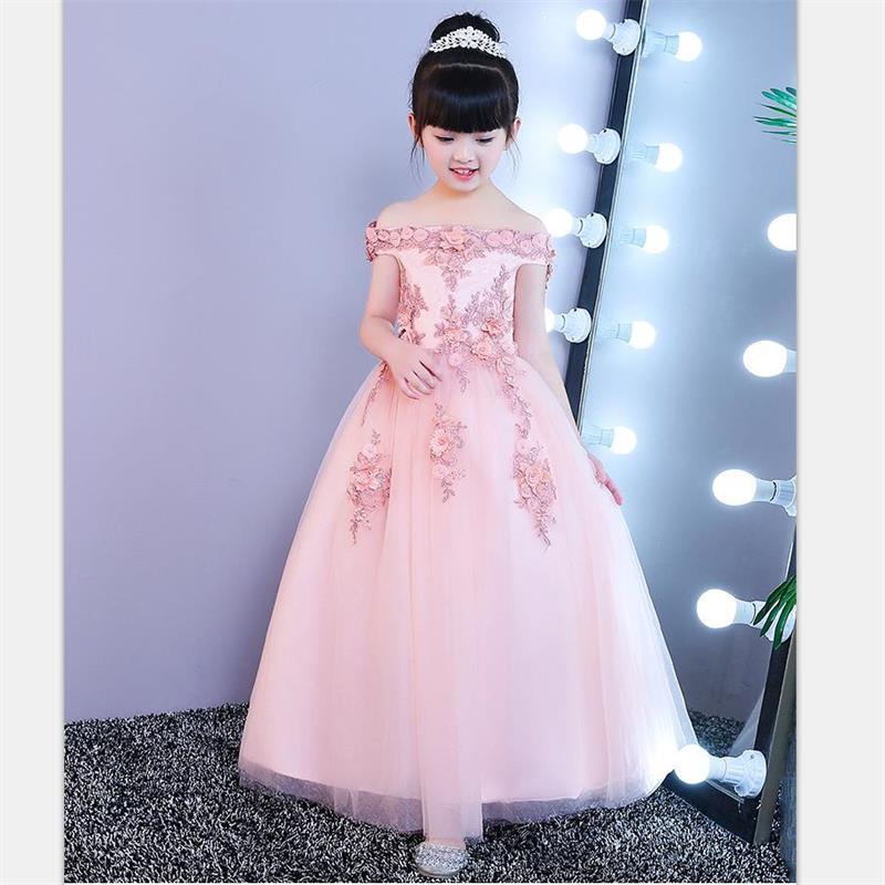 High quality New Style Princess Baby Girls Toddler Lace Tutu Communion Dress Layered Party Wedding Bow Formal Flower Pageant 2017 fashion summer hot sales kid girls princess dress toddler baby party tutu lace bow flower dresses fashion vestido