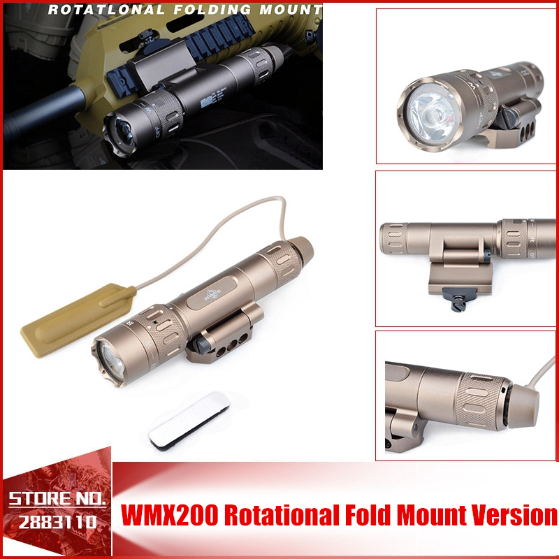 Night-Evolution Tactical Weapon Light WMX200 Rotational Fold Mount Version NE08036