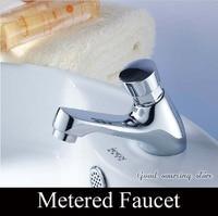 metered bathroom faucet