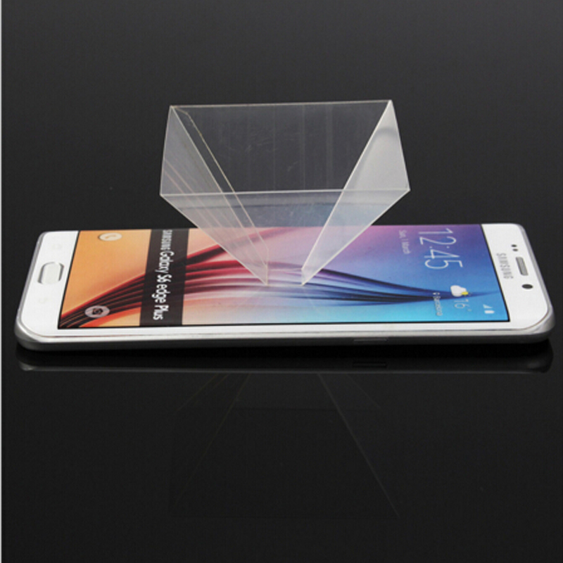 3D Holographic Display Pyramid Stand Projector for 3.5/'/'~6.5/'/' Smart Cell Phone