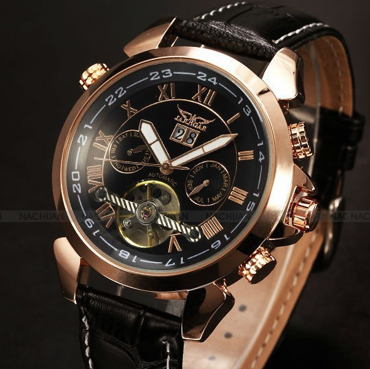 Men's Watch Automatic Mechanical Watches Leather Tourbillon Flywheel Luxury Brand Men wristwatch relogio masculino цена