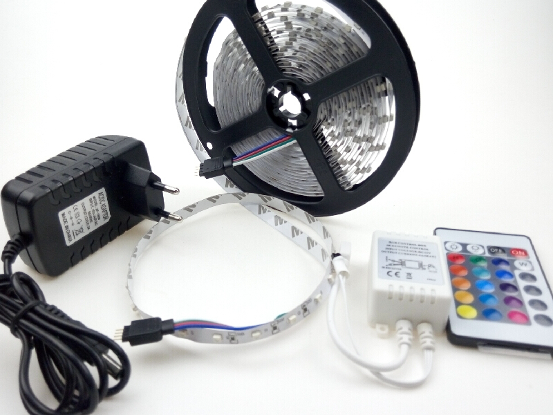 5m rgb led strip dc 12v light smd 300 leds 12 volt 60ledsm