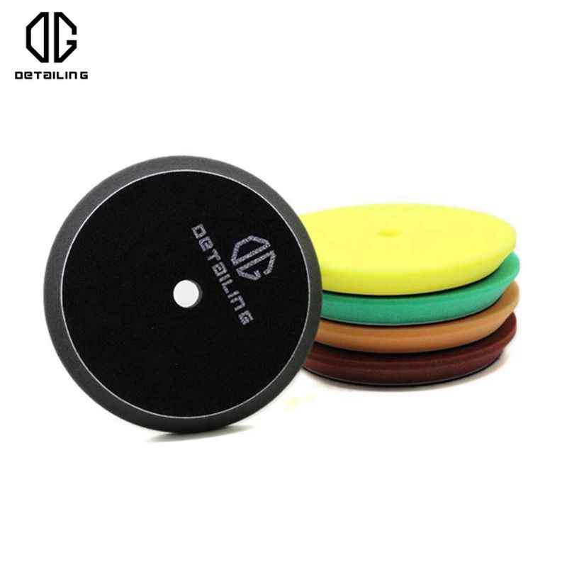 DETAILING Hook&Loop 125mm Car Detailing Sponge Pad Foam Buffing Polishing Pad Black For Finishing