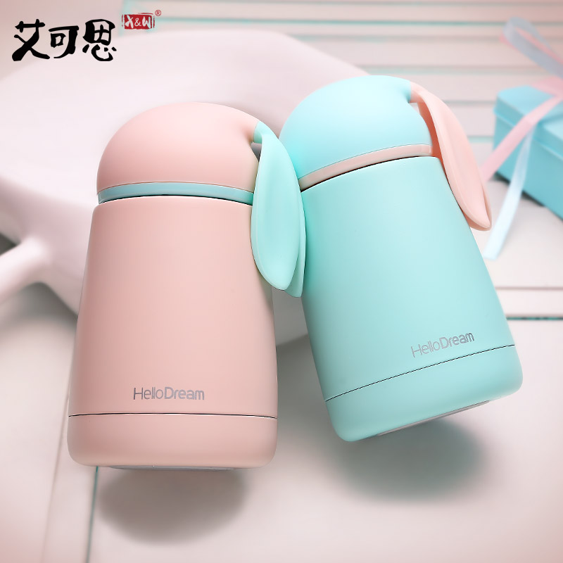Just Lift New Year Mini Rabbit Thermal Bottle Cup Stainless Steel Travel Mug Rabbit Charming Portable