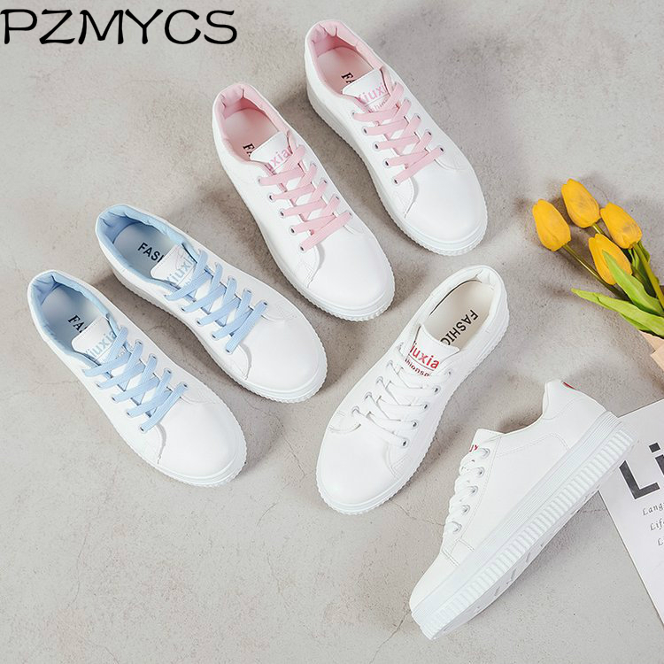 PZMYCS 2018 New Women Breathable Shallow Shoes Footwear Flat Shoes Women Fashion Sneakers Women Summer Spring