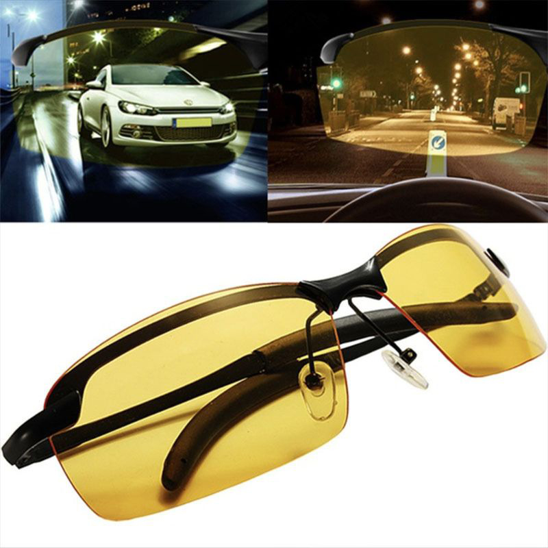 Sun Glasses for Men Night Vision Sunglasses Men Women Goggles Glasses UV400 Sun Glasses Driver Night Driving Eyewear-in Driver Goggles from Automobiles & Motorcycles