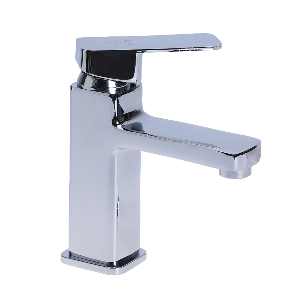 New Basin Mixer Tap Chrome Bathroom Sink Basin Mixer Square Modern ...