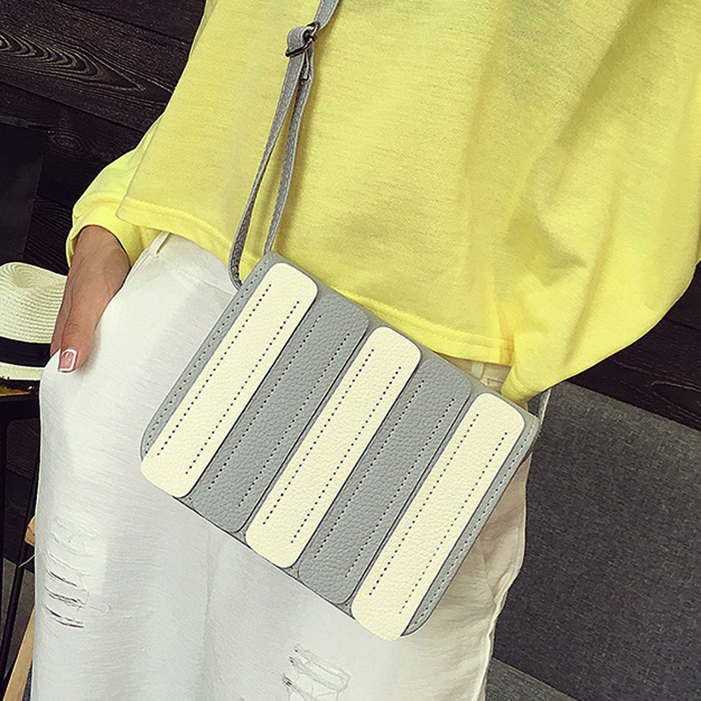 Bolsas Femininas Designer Brand Women Sigle Shoulder High Grade PU Leather Striped Panelled Pattern Bags Vintage