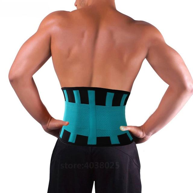 Lumbar Back Spinal Spine Waist Brace Support Belt Corset Stabilizer Cincher Tummy Trimmer Trainer Weight Loss Slimming Belt Men 3