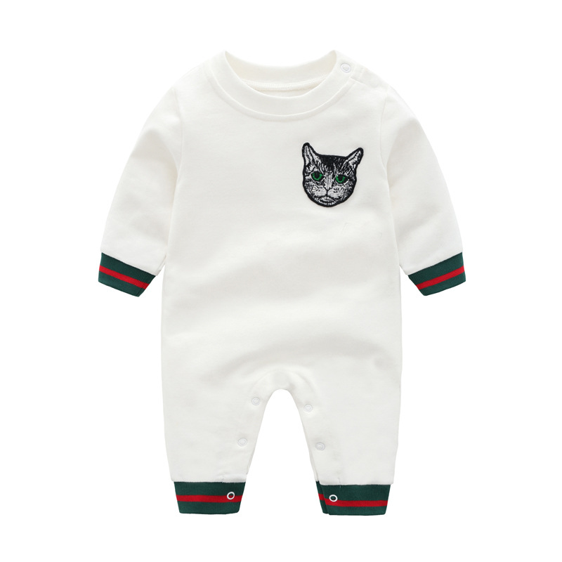 Newborn Boys   Rompers   Cute Animal Cat Baby Girls Jumpsuits Spring Infant Kids Overalls Autumn Toddler Clothing