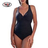 Sea Girl Sexy Swimwear Women One Piece 2017 Brazilian One Piece Swimsuit Plus Size Swimwear Retro
