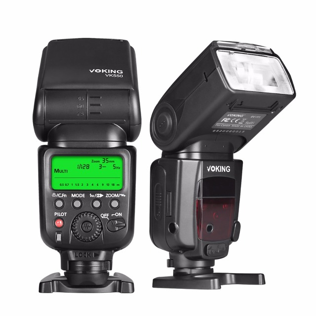 US $53 09 10% OFF|Voking VK550 ETTL Slave Mode Flash Manual LCD Display  Speedlite for Canon EOS Rebel 5DS 5DSR 5S Mark IV 5D Mark III 6D 6D-in  Flashes