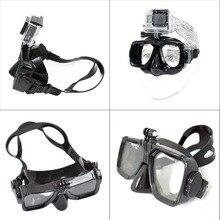 Para Go pro de alta calidad Gafas de Buceo para GoPro Hero 5 4 3 3 2 1 SJ4000 SJ5000 SJ6000 cámara del deporte de Natación de Silicona