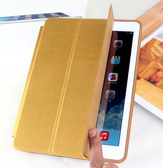 10PC/Lot DHL Free New Arrival  Official Original Fashion Smart Case For Apple iPad Air iPad5 Ultra thin Filp Cover Case