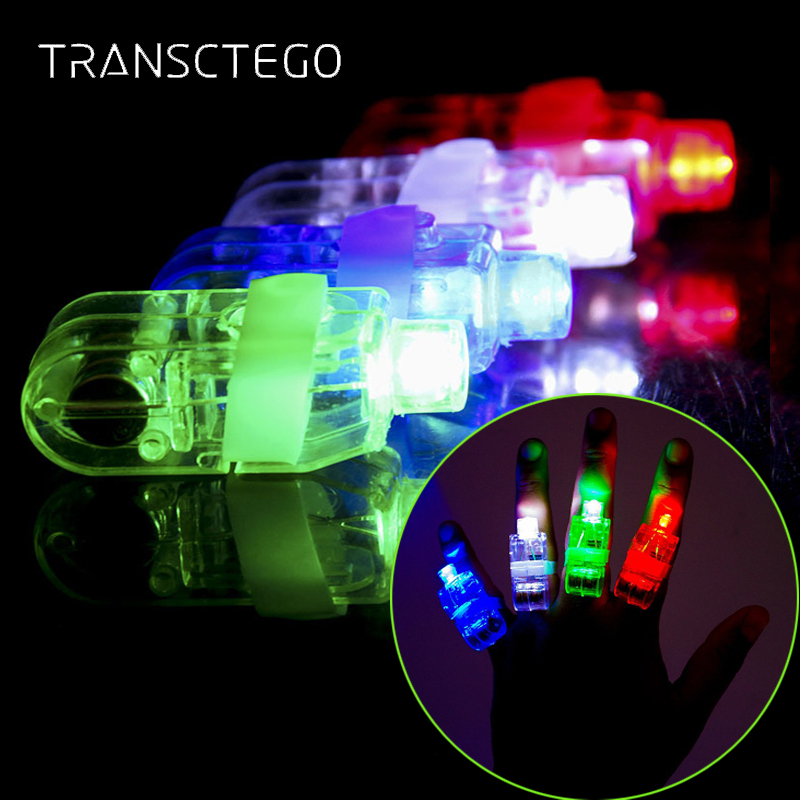 40 PCS LED Finger Lights Novelty Lighting Bright Party Favors Party Nightlights For Holiday Lamp Toys Assorted Color Night Light