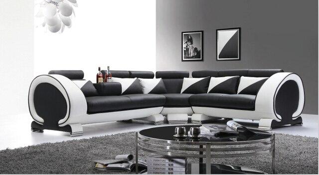 Design moderno divano in pelle con l forma divano in pelle e moderno ...